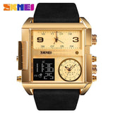 Men Wrist Watch Luxury Brand Military shape Men Watch Banfiyusa Golden Black Belt