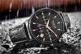 Men Wristwatches Auto Date Chronograph Quartz Wrist Watch Men Men Watch Banfiyusa