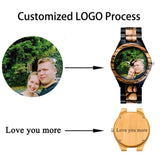 Photo Print Bamboo Wooden Lovers Watches Photo watch BANFIY USA