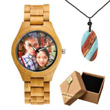 Photo Print Bamboo Wooden Lovers Watches Photo watch BANFIY USA bamboo watch boxgift