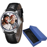 Photo print Mens leather Watches Photo watch BANFIY USA black with box