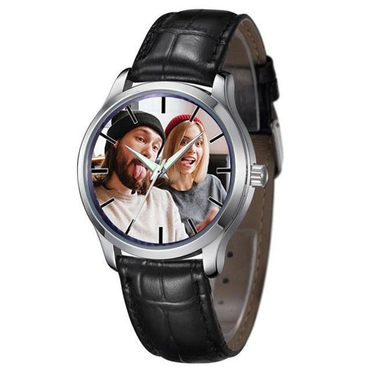 Photo print Mens leather Watches Photo watch BANFIY USA black without box