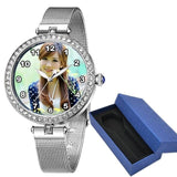 Private Customized Photo Watch for Women Photo watch BANFIY USA silver with box