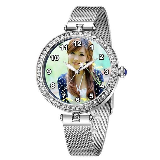 Private Customized Photo Watch for Women Photo watch BANFIY USA silver without box
