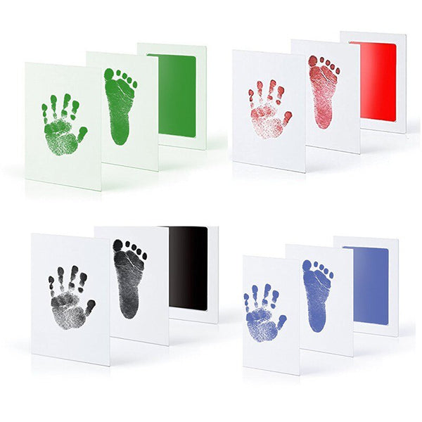 Baby Handprint Footprint Kit with Color Papers