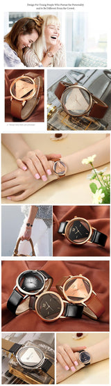 Quartz ladies Watch Women Watches Gold Casual Leather Strap women watch BANFIY USA