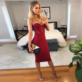 Sexy Bandage Dress Midi Bodycon Dress Bandage Dress BANFIY USA