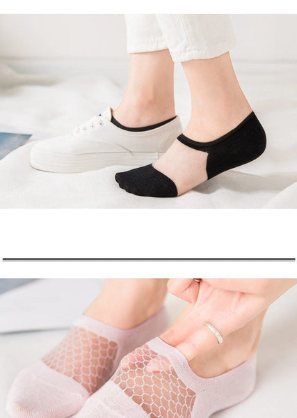 Sexy Lace Fishnet Transparent Socks For Women Socks BANFIY USA