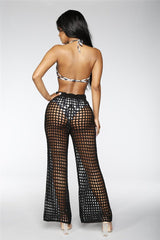 Sexy Women Mesh Knitted Leg Pants Ladies Dress BANFIY USA