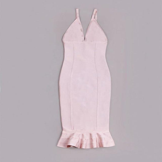 Summer Bandage Dress Bandage Dress BANFIY USA Beige L