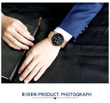 Ultra Thin and Slim Waterproof Quartz wristwatch For Men Men Watch Banfiyusa