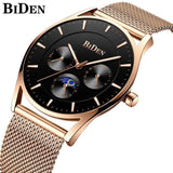 Ultra Thin and Slim Waterproof Quartz wristwatch For Men Men Watch Banfiyusa black rose gold