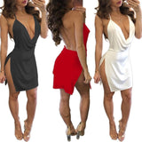 Women Backless V-neck sexy dress for Summer Ladies Dress BANFIY USA
