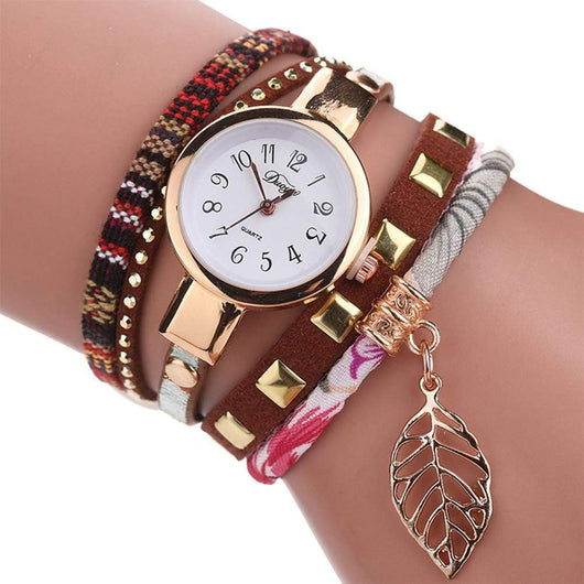 Women Quartz Lady Bracelet Wristwatch women watch BANFIY USA Coffee