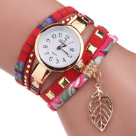 Women Quartz Lady Bracelet Wristwatch women watch BANFIY USA Red