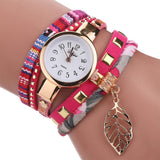Women Quartz Lady Bracelet Wristwatch women watch BANFIY USA Rosy