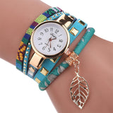 Women Quartz Lady Bracelet Wristwatch women watch BANFIY USA Sky-blue
