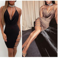 Women's Bandage Bodycon Mini Dress Ladies Dress BANFIY USA