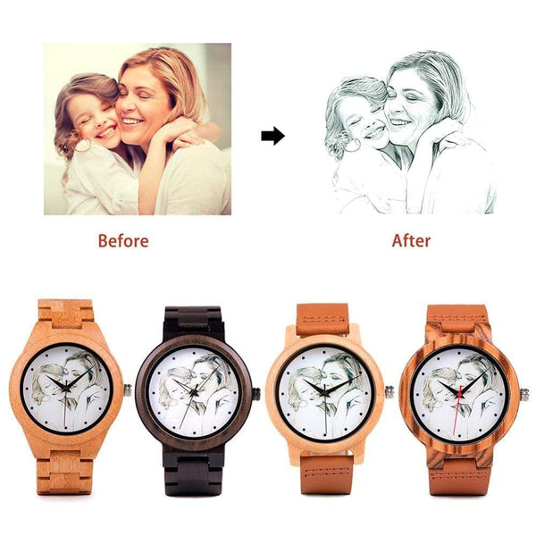 Wooden Photo Watch with UV Printing Photo watch BANFIY USA