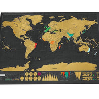 World Map Poster Personalized Journal Big Map for Travellers Travel Accessories BANFIY USA