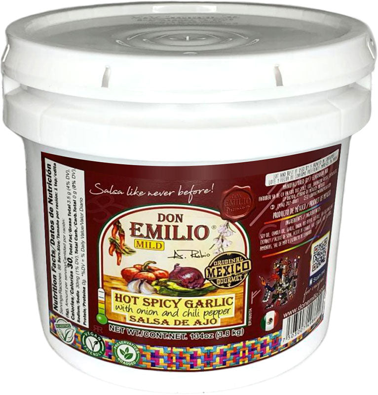 Don Emilio Hot Spicy Garlic with Onion and Chili Sauce – MILD