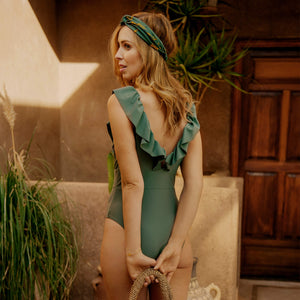 LEOPARD GREEN bathing suit