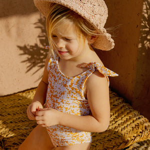 APPLE BLOSSOM girls bathing suit