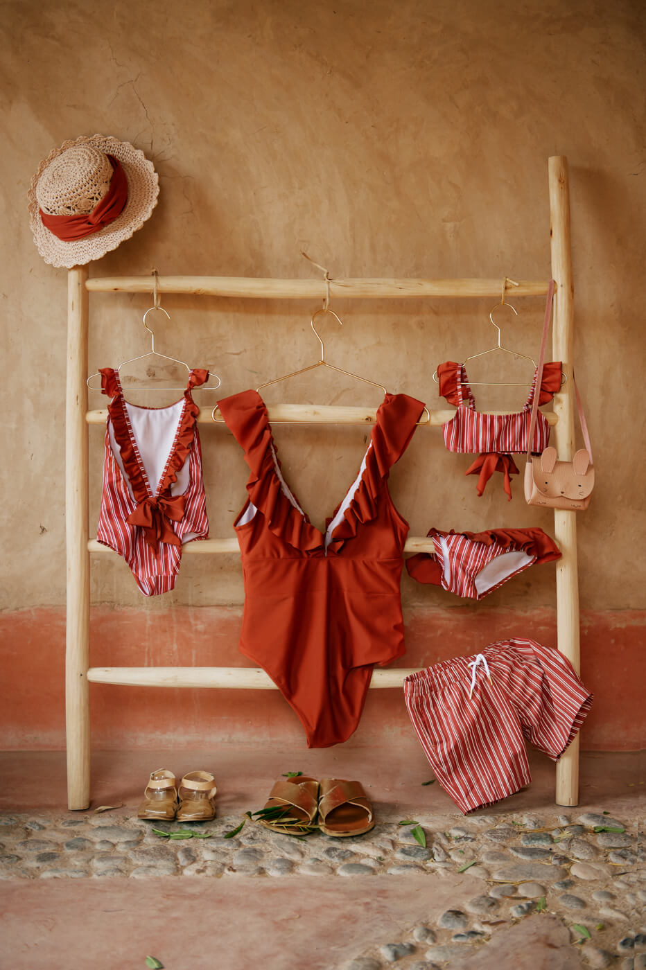 RIAD RED girls bathing suit