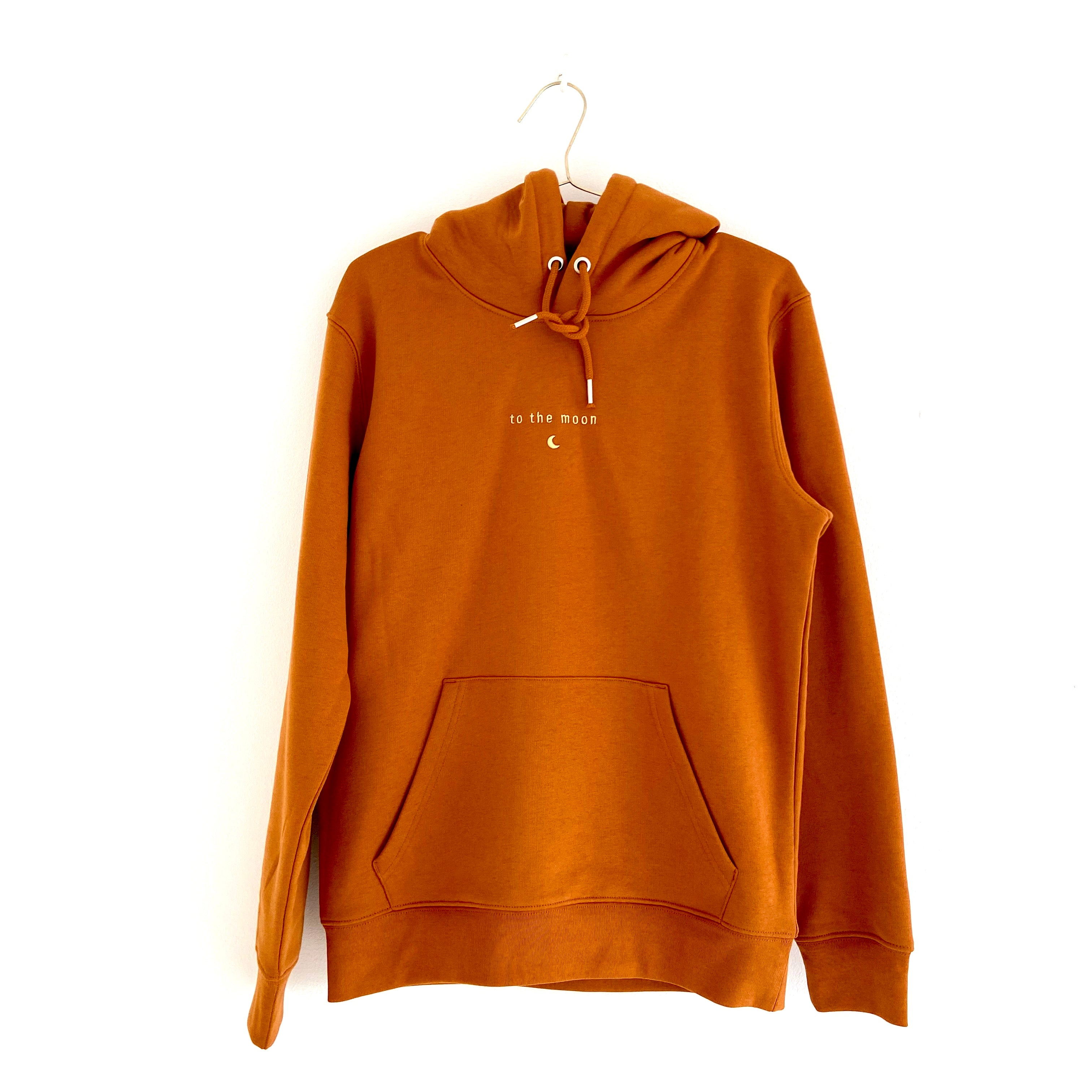 hoodie TO THE MOON salty caramel