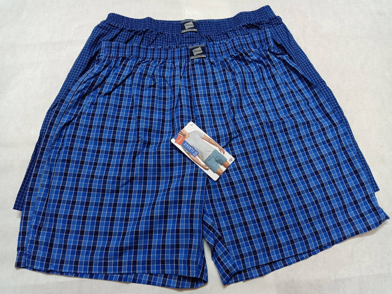 Hanes Mens Checkered Boxer Shorts (Pack of 2)