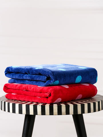 Solid Cotton Face Towel (Pack of Three)