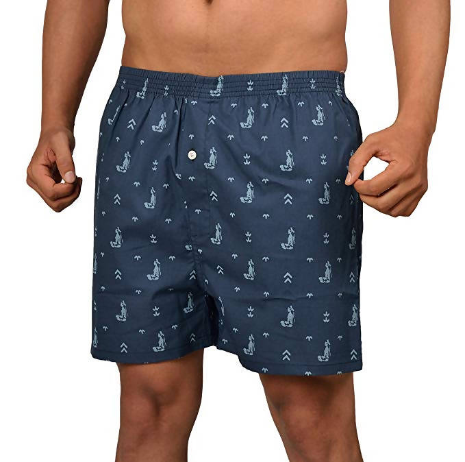 The Cotton Company Men's Printed Cotton Boxer Shorts (Pack of 2)