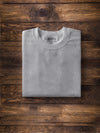 Men Om Print Ash Color T-shirt