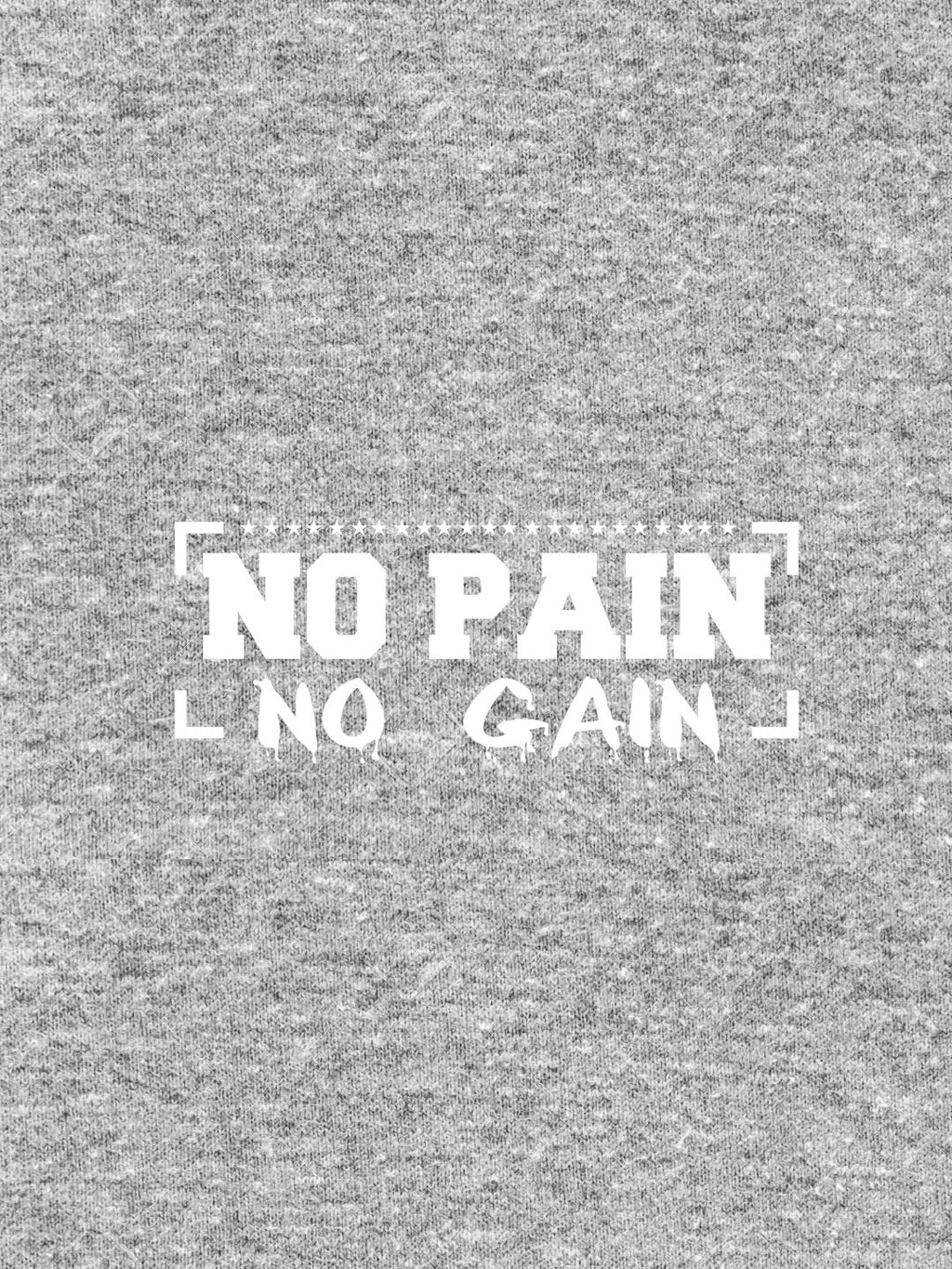 No Pain No Gain Print Men Ash Color T-shirt