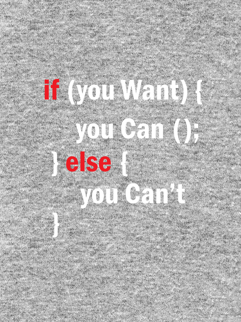 If You Want You Can, Else You Can't Print Men Ash Color T-shirt