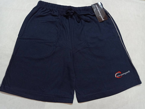 Chromozome Mens Solid Charcoal Cotton Shorts