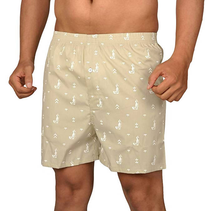The Cotton Company Men Printed Cotton Boxer Shorts (Pack of 2)