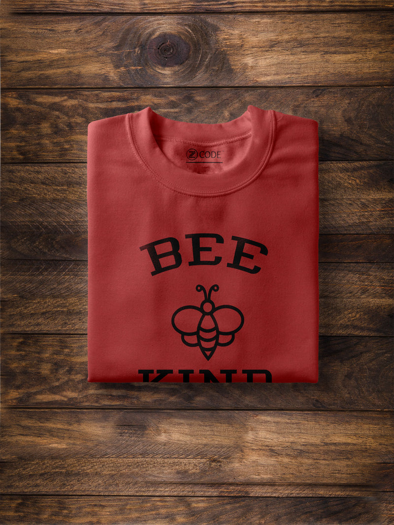 Bee Kind Printed Red T-shirt
