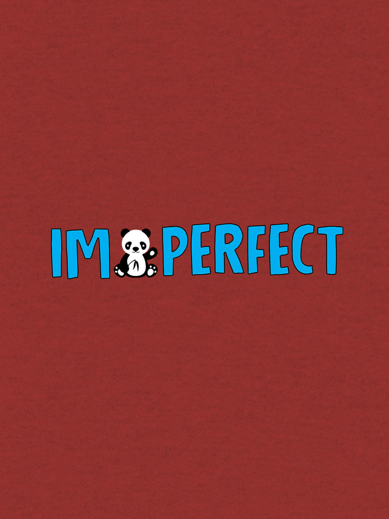 I Am Perfect Print Men Red T-shirt