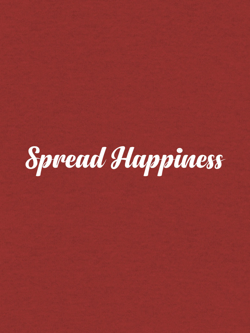 Spread Happiness Print Men Red T-shirt
