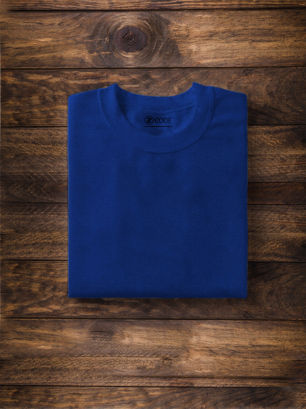 Men Solid Royal Blue T-Shirt