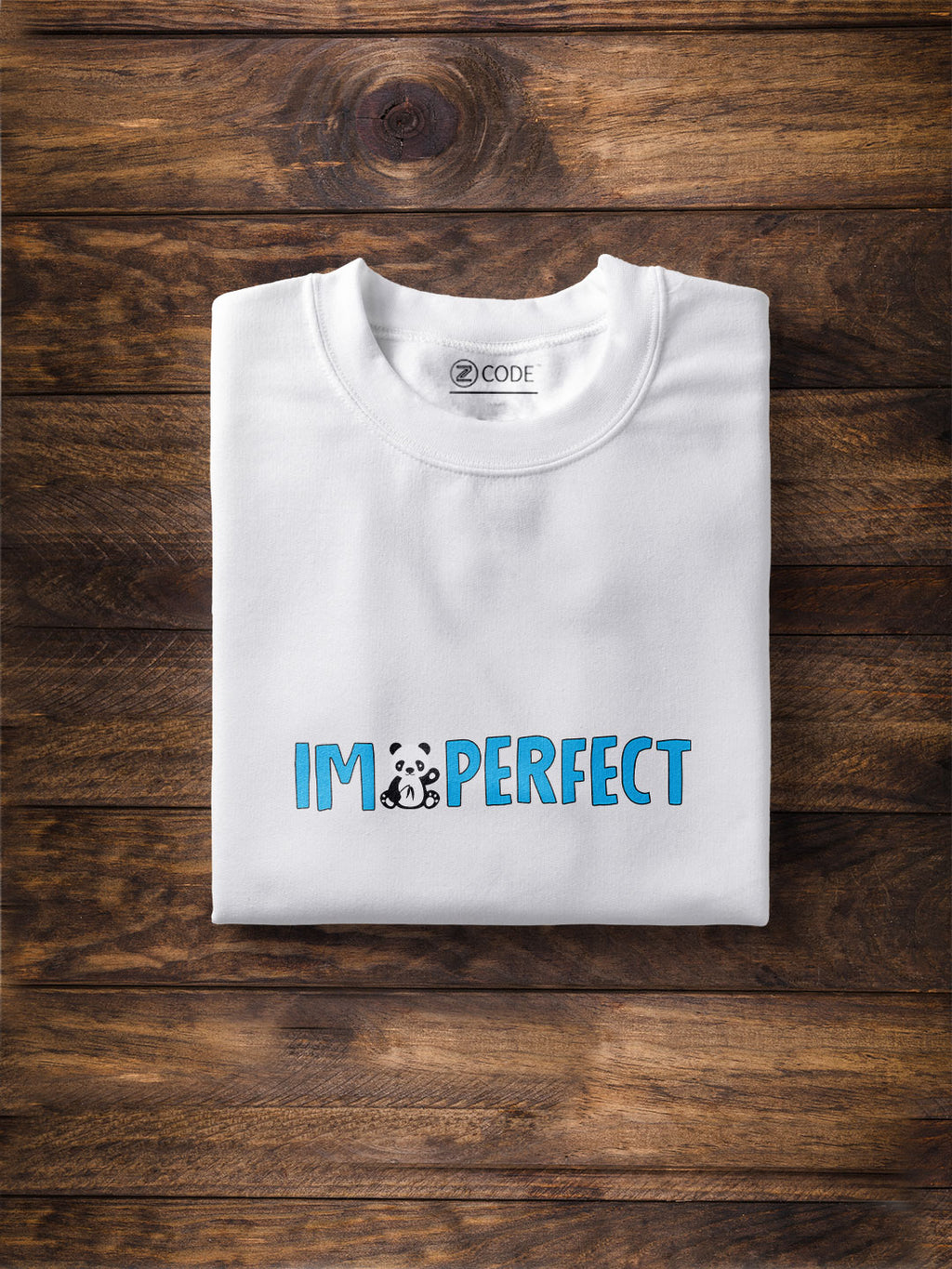 I Am Perfect Print Men White T-shirt