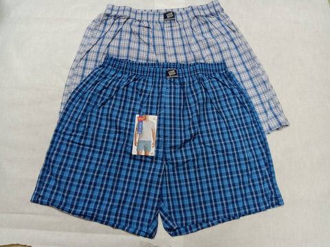 The Cotton Company Men Printed Cotton Navy Blue Boxer Shorts