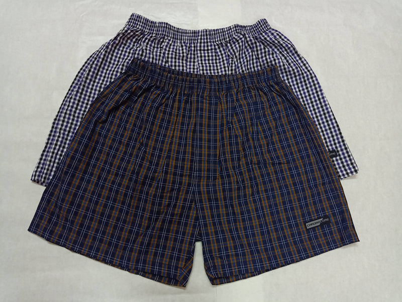 Chromozome Mens Checkered Boxer Shorts (Pack of 2)