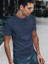 Men Printed Ash Color T-shirt
