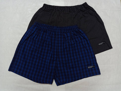 Van Heusen Mens Checkered Boxer Shorts (Pack of 2)