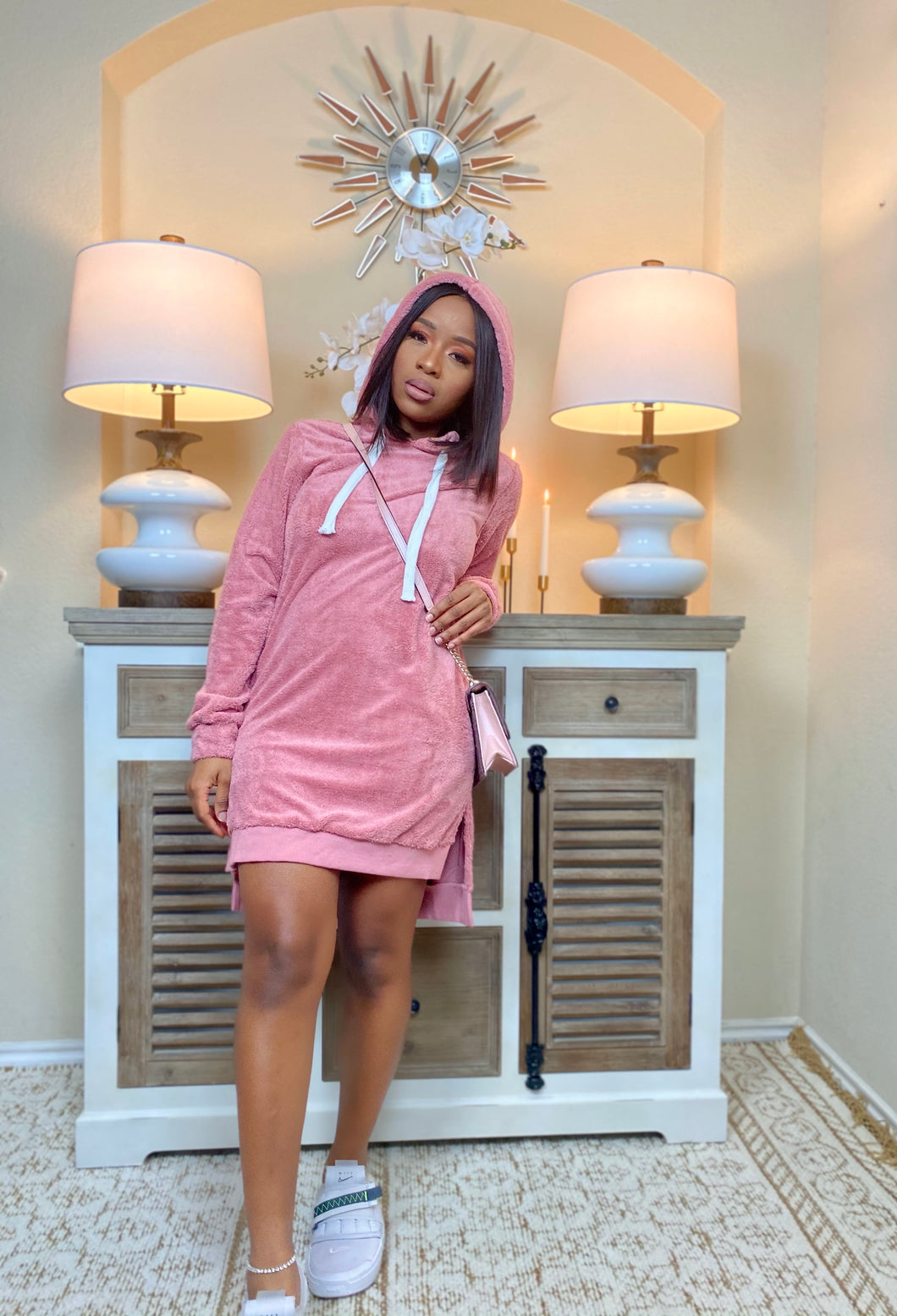 My Way Hooded Dress