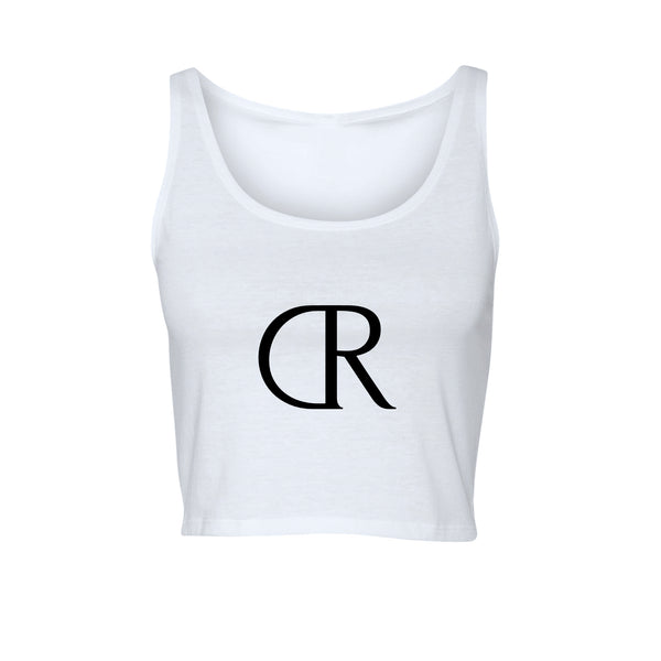 KINGS SUMMER Ladies Crop Tank White
