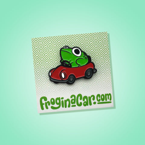 Frog in a Car Pin