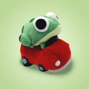 Frog in a Car Plushy